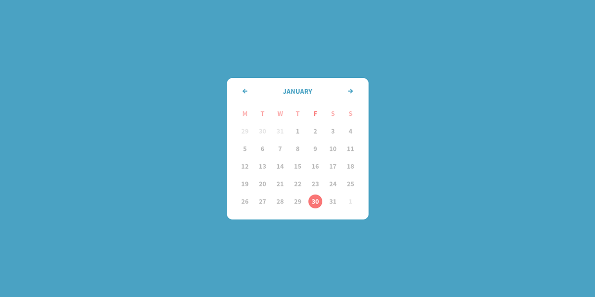 Calendar Ui Design Psd : Curabites a web development