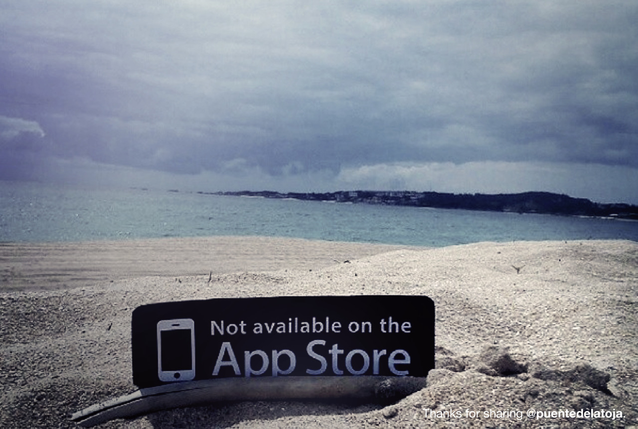 Not On App Store Is An Online Campaign With A Powerful Message - Not available on the app store